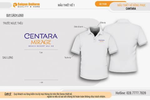 Áo thun đồng phục Centara